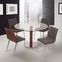 Armen Living Cafe 5 Piece Dining Table Set