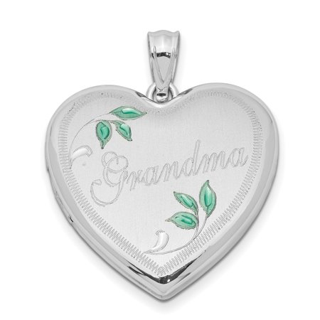Aries Italian Photo Charm - 925 Sterling Silver 24mm Grandma Heart Photo Pendant Charm Locket Chain Necklace That Holds Pictures Gifts For Women For Her