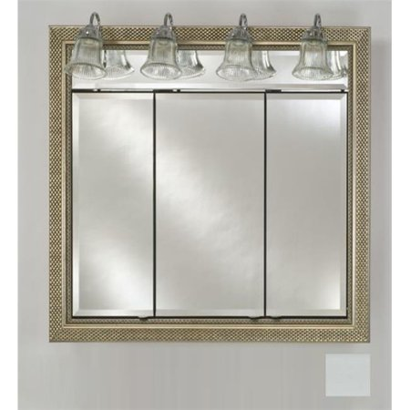 Afina Corporation TD-LT3434RSOHWT 34 in.x 34 in.Recessed Triple Door Cabinet with Traditional Lights - Soho Satin White - image 1 of 1