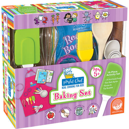 Playful Chef Baking Set, Pink Apron