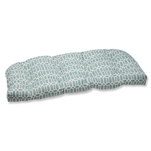 Pillow Perfect Outdoor/ Indoor Rhodes Quartz Wicker Loveseat Cushion