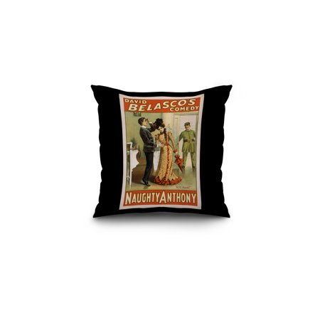 Naughty Anthony At It Again Theatre Poster (16x16 Spun Polyester Pillow, Black Border) ()