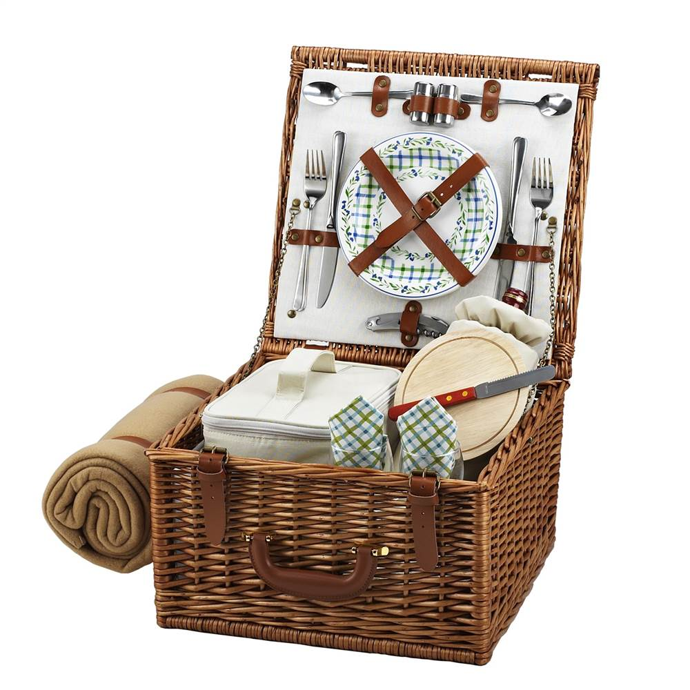 Gazebo Cheshire Basket for Two with Blanket