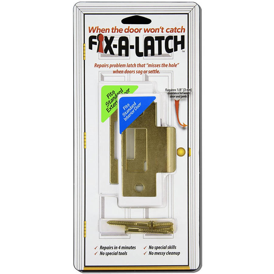 Fix-A-Latch Mixed Door Latch with Brass Finish, Pack of 2