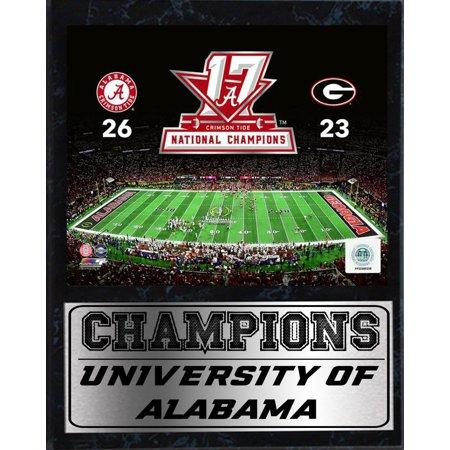 - 12x15 Stat Plaque - 2017 National Champion Alabama Crimson Tide 2