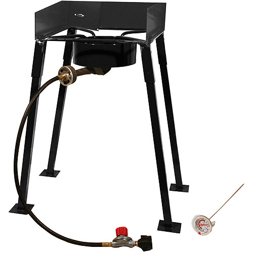 "King Kooker 25"" Tall Heavy Duty Portable Propane Single Burner Outdoor Cooker/ Camp Stove"