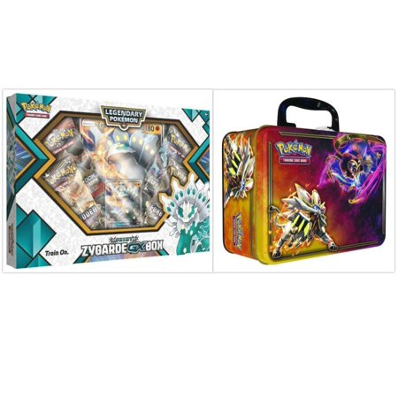 Pokemon Shiny Zygarde GX Box and 2017 Spring Collectors Chest Tin Trading Card Game Bundle, 1 of