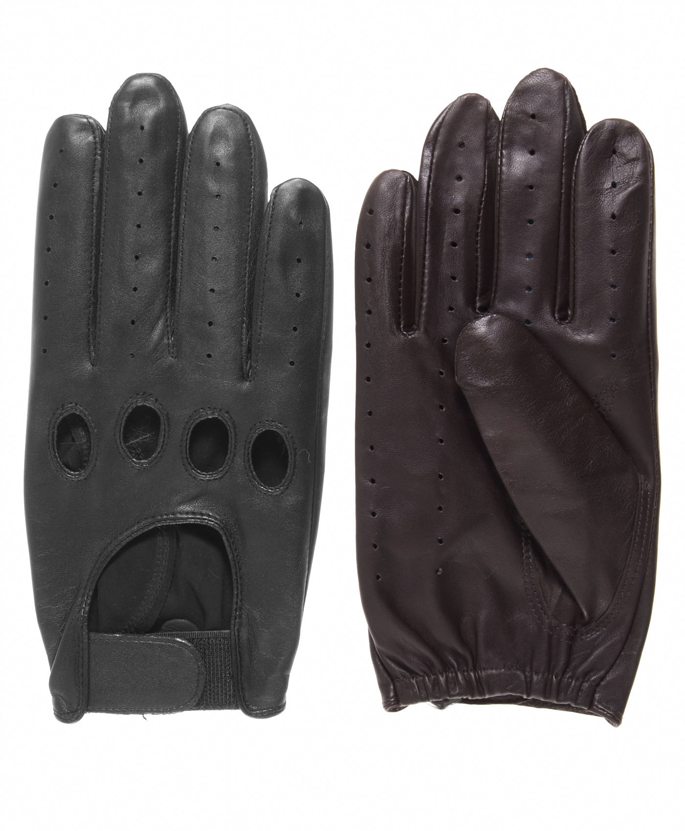 Driving gloves at walmart - Pratt And Hart Men S Leather Driving Gloves With Velcro Strap Walmart Com