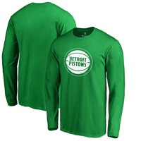 Detroit Pistons Fanatics Branded St. Patrick's Day White Logo Long Sleeve T-Shirt - Green