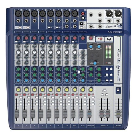 soundcraft signature 12 analog 12-channel mixer with onboard lexicon