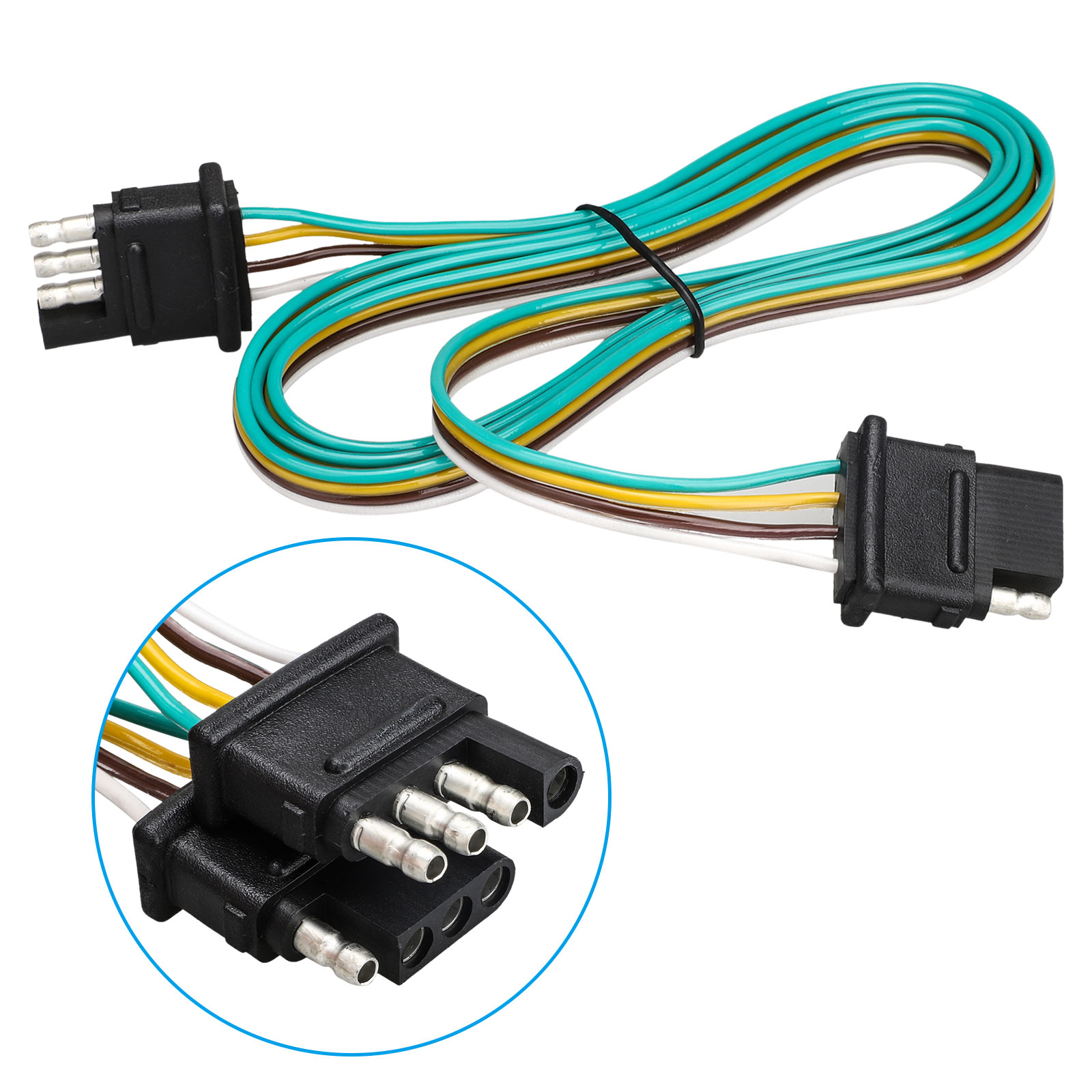 Tsv 5ft Trailer Wiring Harness With 4 Flat Connector  18