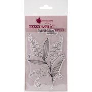"""Woodware Clear Stamps 3.5""""X5.5""""-Bubble Bloom Michelle"""