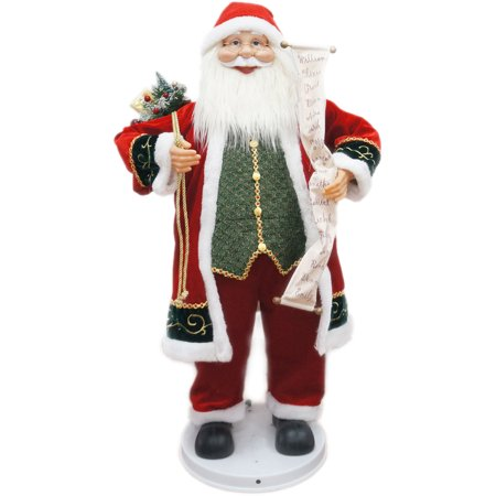 "Fraser Hill Farm 36"" Dancing Santa with Scroll"