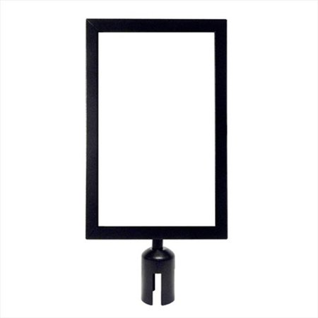 VIP Crowd Control 1711 11 x 17 in. Sign Mount with Portrait Sign Frame - Black Finish