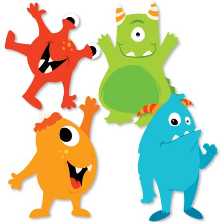 Monster Bash - Decorations DIY Little Monster Birthday Party or Baby Shower Essentials - Set of 20 - Halloween Party Decoration Diy