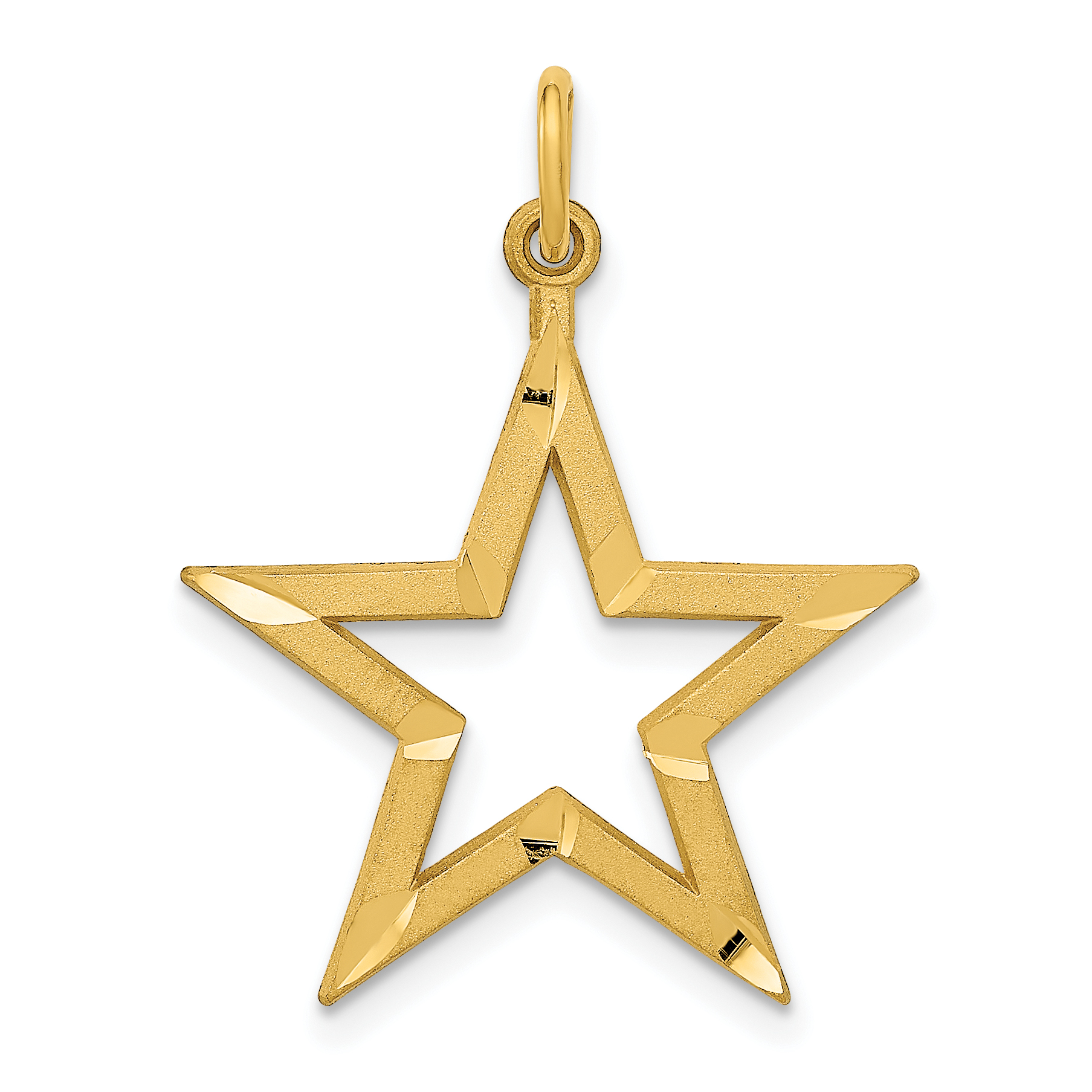 ICE CARATS 14kt Yellow Gold Star Pendant Charm Necklace Celestial Fine Jewelry Ideal Gifts For Women Gift Set From Heart