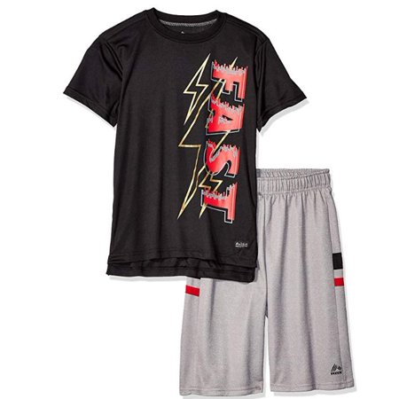RBX Short Sleeve Graphic T-shirt & Tech Fleece Short, 2pc Active Set (Toddler Boys) (Toddler Boys) Boys Navy Short Set