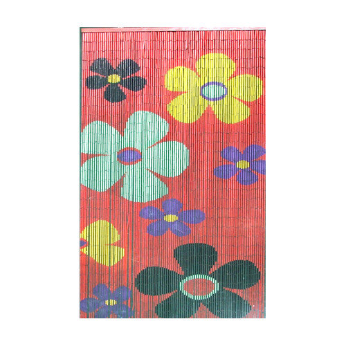 Bamboo54 Natural Bamboo Kids Flower Single Curtain Panel