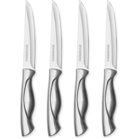 Four Piece Steak Set (Farberware Four Piece Stainless Steel Steak Knife Set)