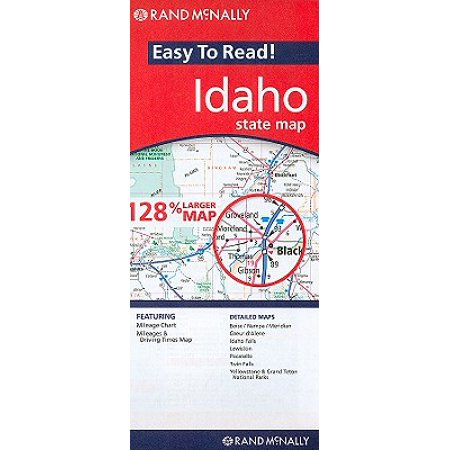 Rand mcnally easy to read! idaho state map: 9780528881220