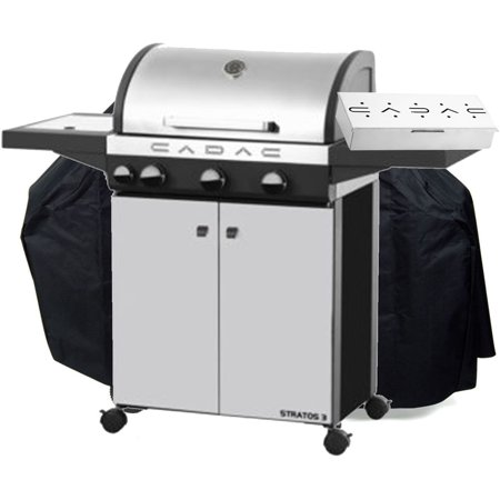 stratos 3 burner grill cover smoker box. Black Bedroom Furniture Sets. Home Design Ideas