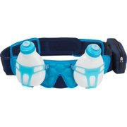 FuelBelt Helium 2-Bottle Custom Fitted Hydration Belt: Deep Sea Blue/Honolulu Blue LG