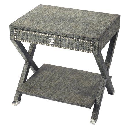 Butler Specialty Benito Gray Raffia End Table - Raffia Table