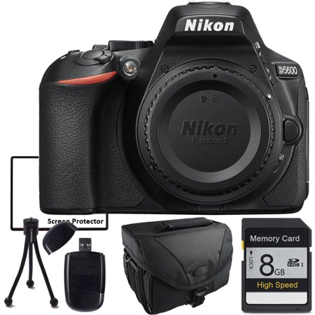 Nikon D5600 Digital Camera with Camera Case, memory Card, USB SD Card Reader, Table Top Tripod, LCD Screen Protector and