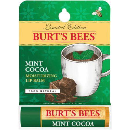 Frontier Mint (Burt's Bees 100% Natural Mint Cocoa Moisturizing Lip Balm, 0.15 oz )