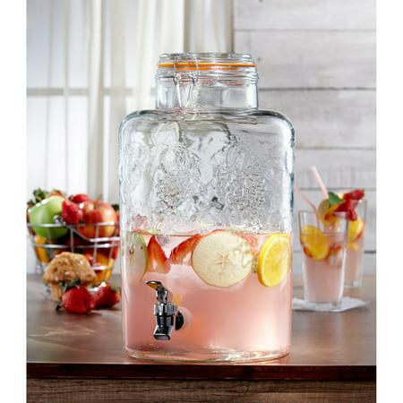 Style Setter Vineyard Fruit Beverage Dispenser, 2.75 Gal