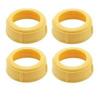 4 Pack - Medela Bottle Nipple Collars Rings New! For Slow or Medium Flow Wide Base (4 Collars)