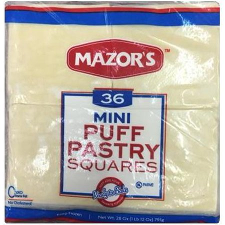 Mazors 40060 Mini Puff Pastry Squares 36 Walmartcom