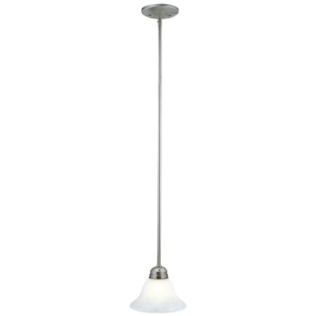 Design House 511634 Millbridge 1-Light Mini Pendant, Satin Nickel