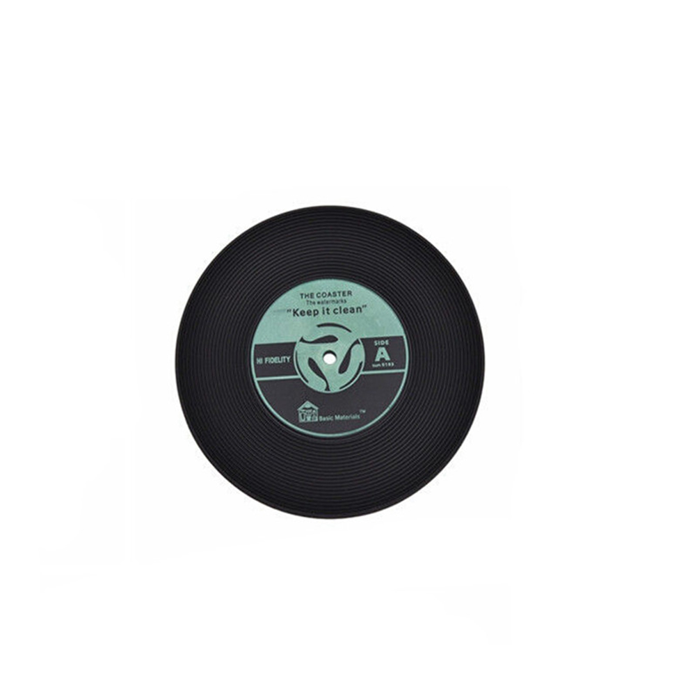 4pcs Colorful Vinyl Record Disk Drinks Coasters Cup Mat for Music Lovers by