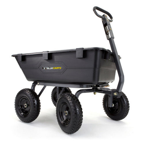 TRICAM Gorilla Carts GOR6PS 1,200 lb. Capacity Poly Garde...