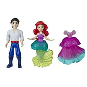 DIsney Princess Ariel and Prince Eric Collectible Small Doll, Includes Dress