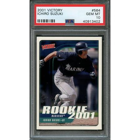 2001 victory #564 ICHIRO SUZUKI seattle mariners rookie card PSA