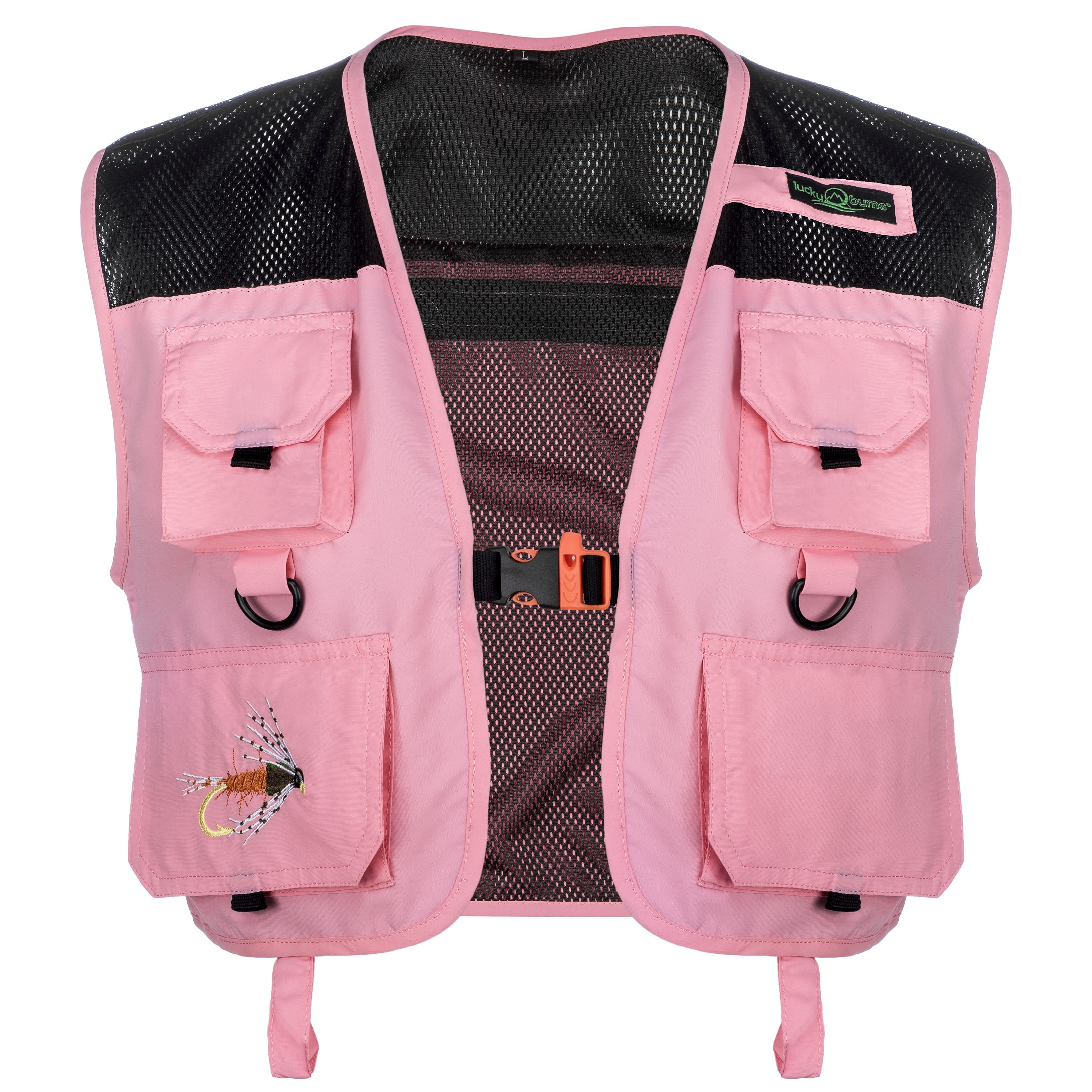 Lucky Bums Kid's Fishing and Outdoor Adventure Vest, Pink, Large
