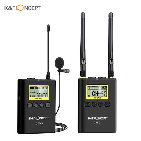 K&F CONCEPT Professional Wireless Lavalier Lapel Microphone Mic System