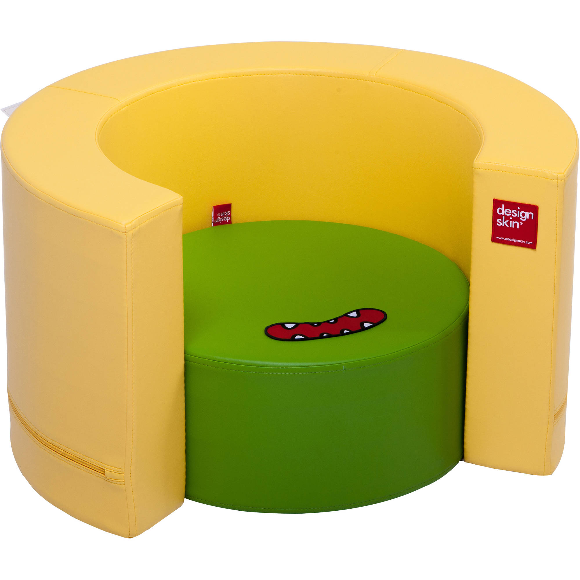 Tunnel Sofa Transforamble Furniture for Kids, Green & Yellow