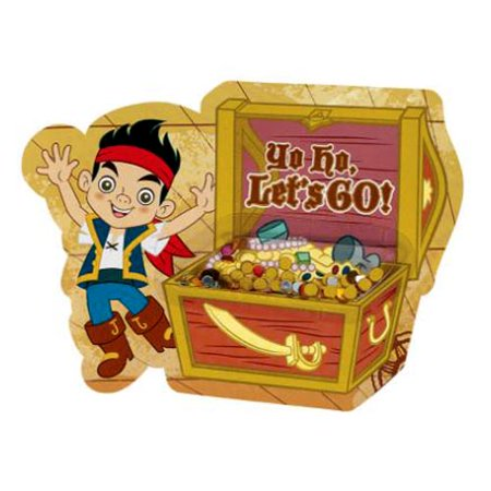 Jake & The Never Land Pirates Novelty Invitations w/ Envelopes (8ct)](Pirate Map Invitations)