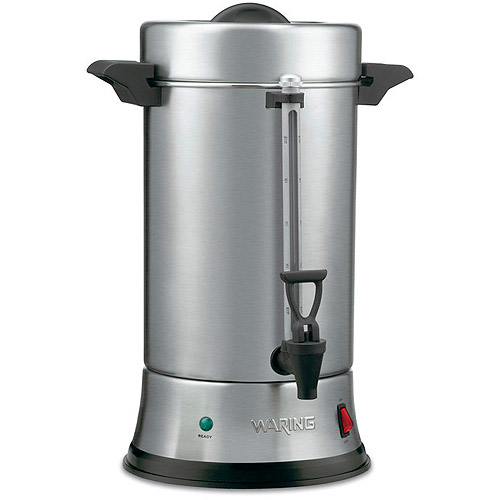 Waring Pro 55-Cup Professional Coffee Urn, CU55, Stainless Steel