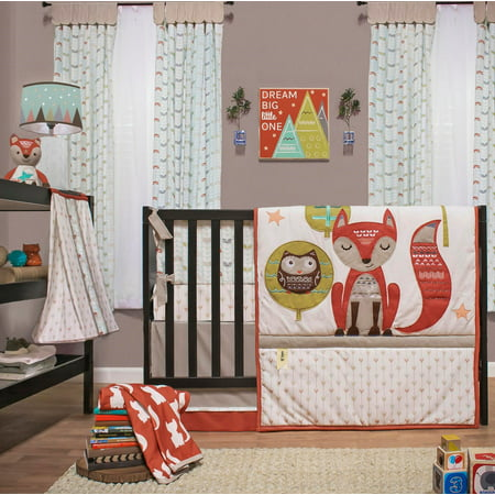 Little Haven Clever Fox Crib Bedding Set Woodland