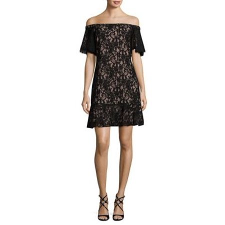 ab07301c98839a Eliza J Dresses - Eliza J Women s Off-Shoulder Lace Sheath Dress -  Walmart.com