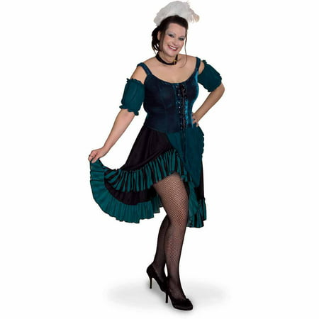 Lava Diva Saloon Girl Women's Plus Size Adult Halloween Costume - Adult Saloon Girl Costume