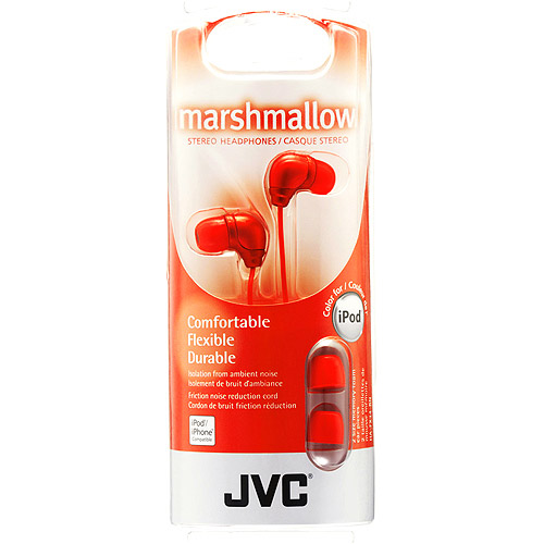 JVC HAFX34RN Marshmallow Headphones - Red