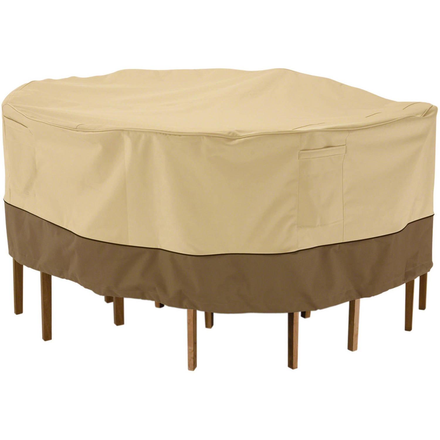 Classic Accessories Veranda Round Patio Table U0026 Chair Set Cover   Durable  And Water Resistant Outdoor  Outdoor Patio Furniture Covers