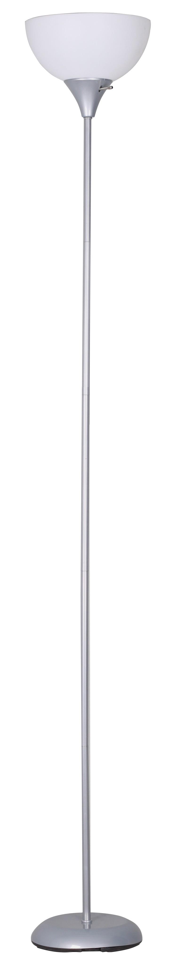 Mainstays Torchiere Floor Lamp Silver Walmart Com