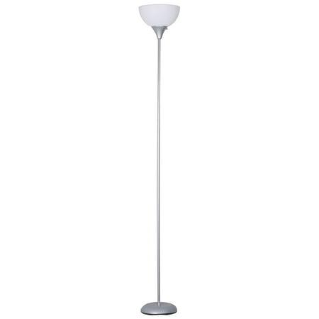 Mainstays Torchiere Floor Lamp, Silver Column Torchiere Floor Lamp