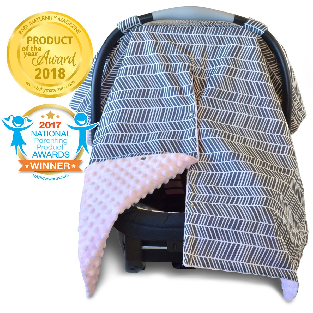 BUCK//DEER /& MINKY INFANT CAR SEAT COVER SET//GRACO FIT /& can custom most brands.